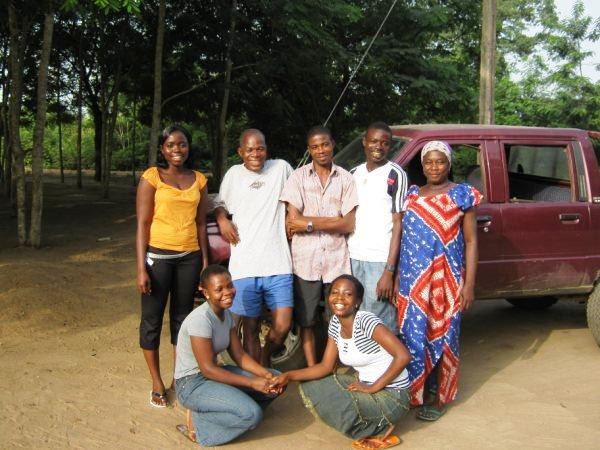 L'équipe du dispensaire de Mafi-Seva – Décembre 2009