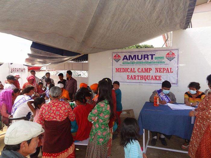 AMURT Népal / séisme / aide médicale